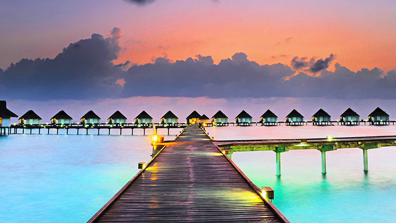 モルディブ. 1島1リゾート プライベート感たっぷりのコテージライフ